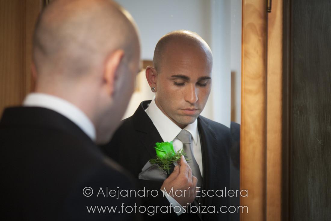Oscar el día de su boda