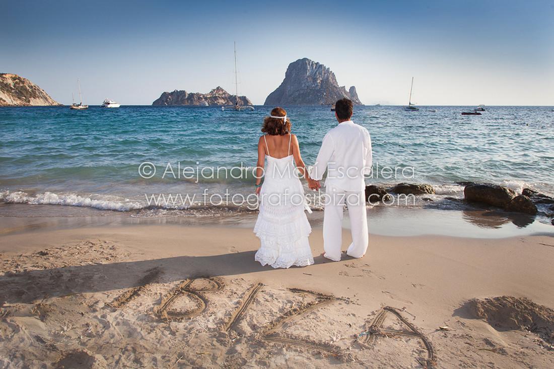 Fotografo de bodas playa de ibiza